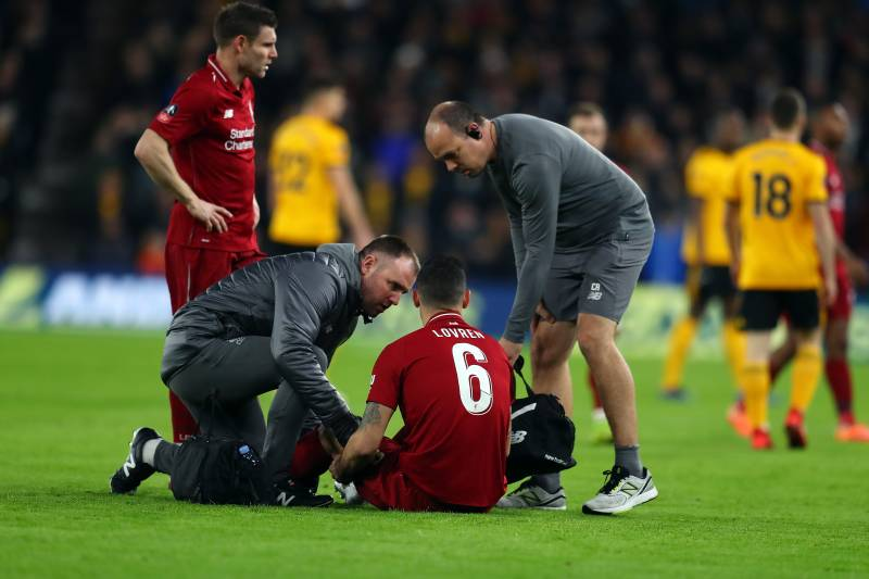 Image result for LOVREN INJURED vs wolves