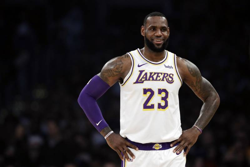 6b3704dd4c9 Los Angeles Lakers' LeBron James (23) during the first half of an NBA