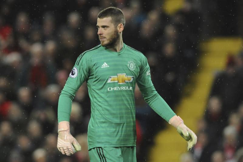 89aace2af4e Manchester United's David De Gea during the English Premier League soccer  match between Liverpool and Manchester