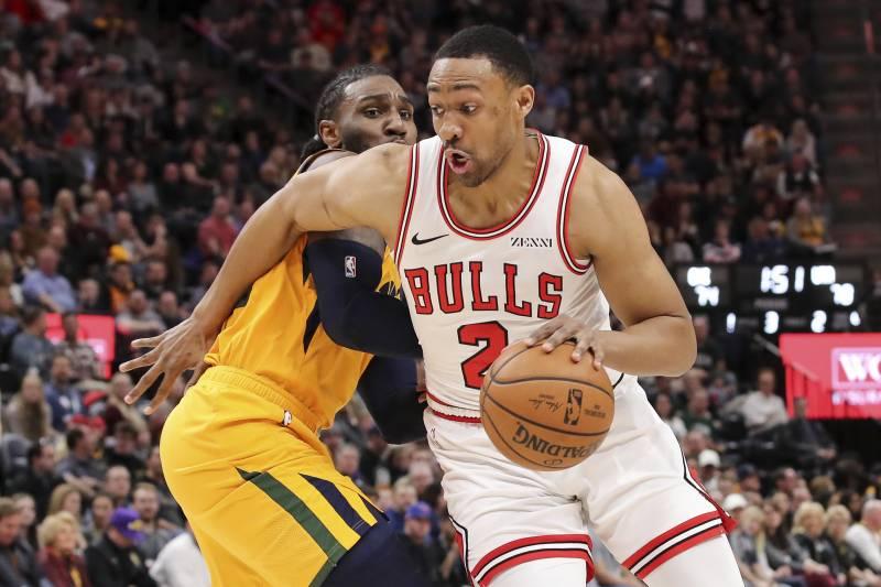 501e33e58ae7 Chicago Bulls forward Jabari Parker (2) dribbles past Utah Jazz forward Jae  Crowder during