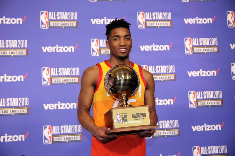 Donovan Mitchell Won t Defend Title at 2019 NBA Slam Dunk Contest ... f205854f9