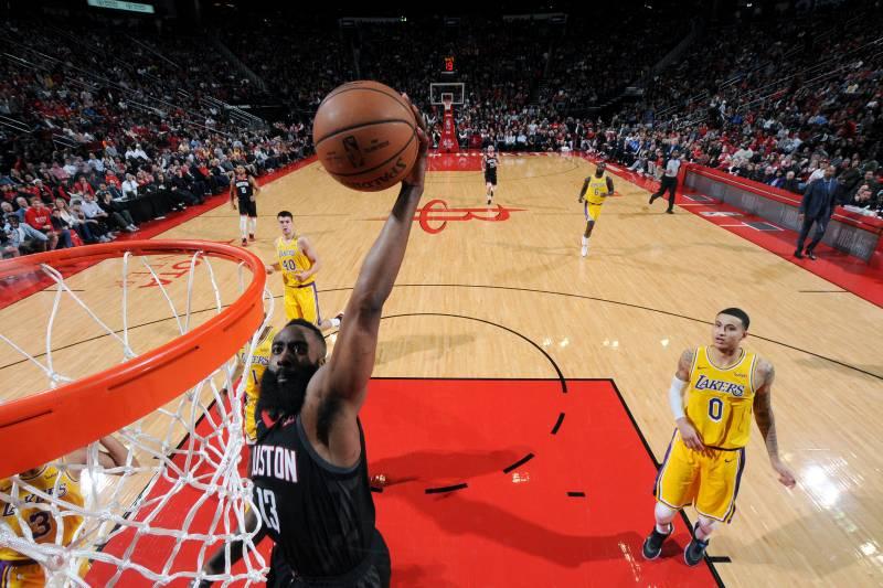 29452fee400 James Harden Drops 48 in Rockets Win vs. Lakers  Lonzo Ball Suffers ...