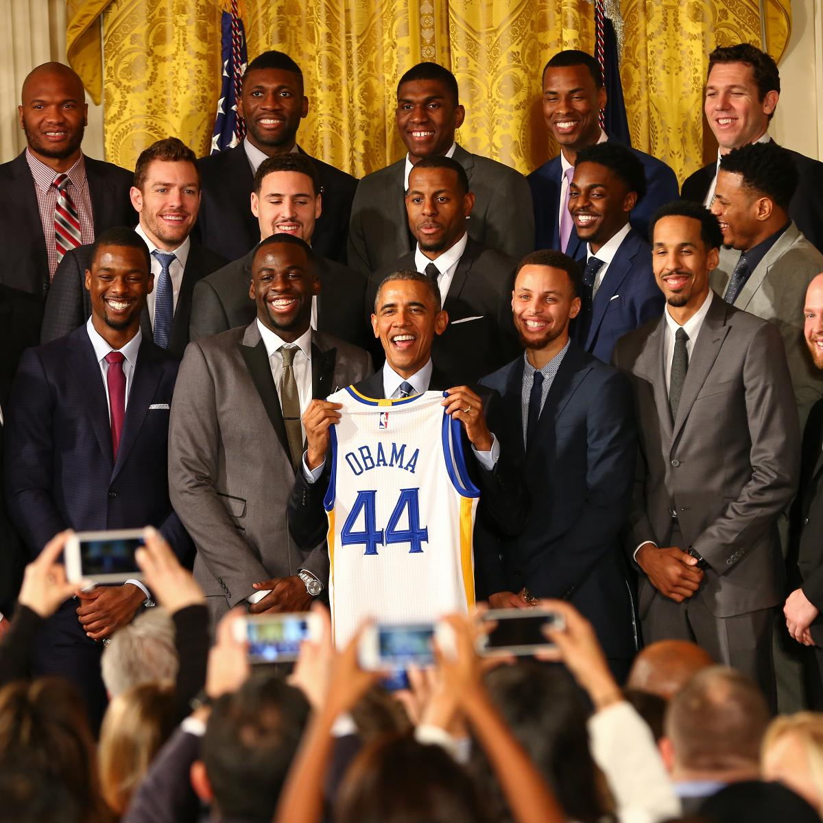 Warriors Visit Barack Obama During Team's Visit to Washington DC