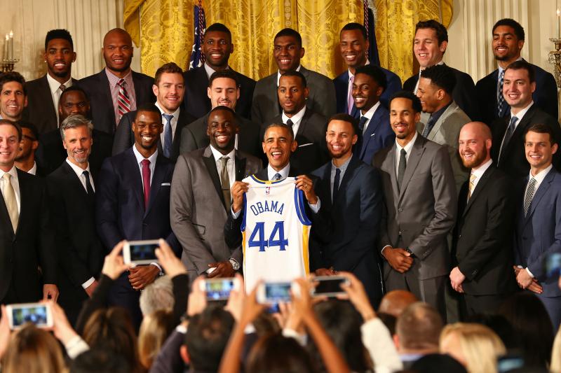 Warriors Visit Barack Obama During Team's Visit to Washington DC