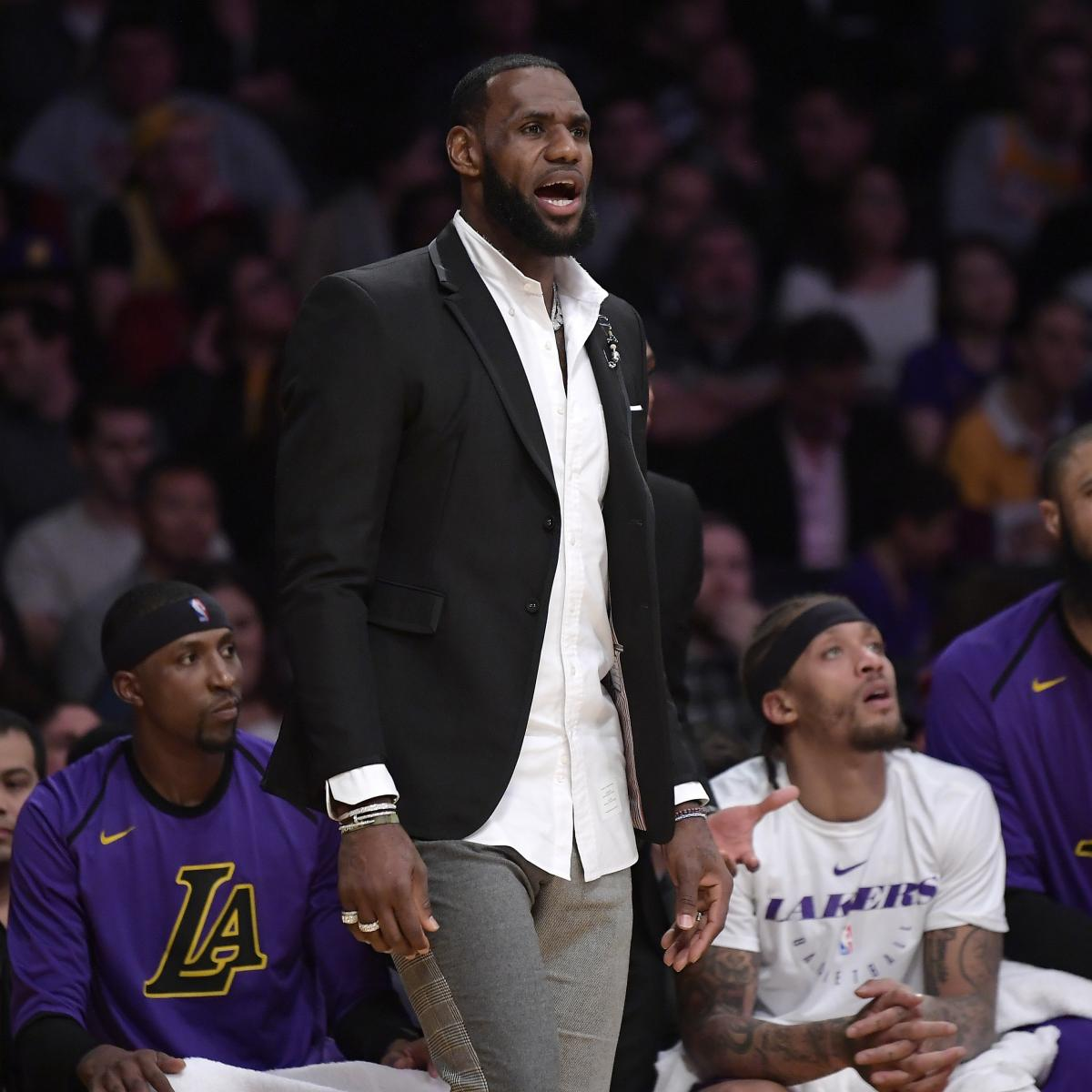 0ed8384db Lakers News  LeBron James Practices Full-Contact in Return from Groin Injury