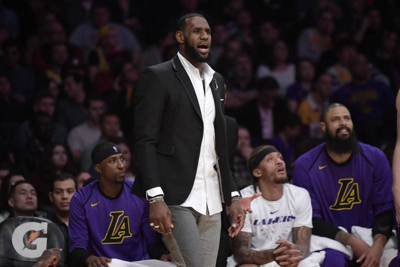 b902195de46 Lakers News  LeBron James Practices Full-Contact in Return from Groin Injury