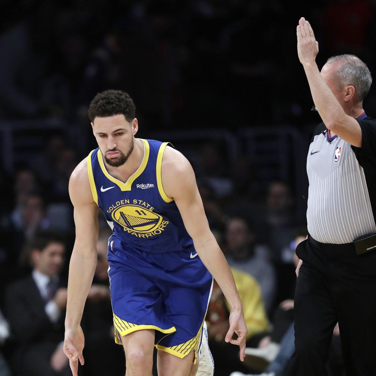 Lakers Rumors  Klay Thompson Interested in Signing If Anthony Davis Traded  to LA  35743be8f
