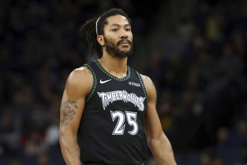 539bc2a6890 Minnesota Timberwolves  Derrick Rose plays against the Houston Rockets  against the Houston Rockets in an