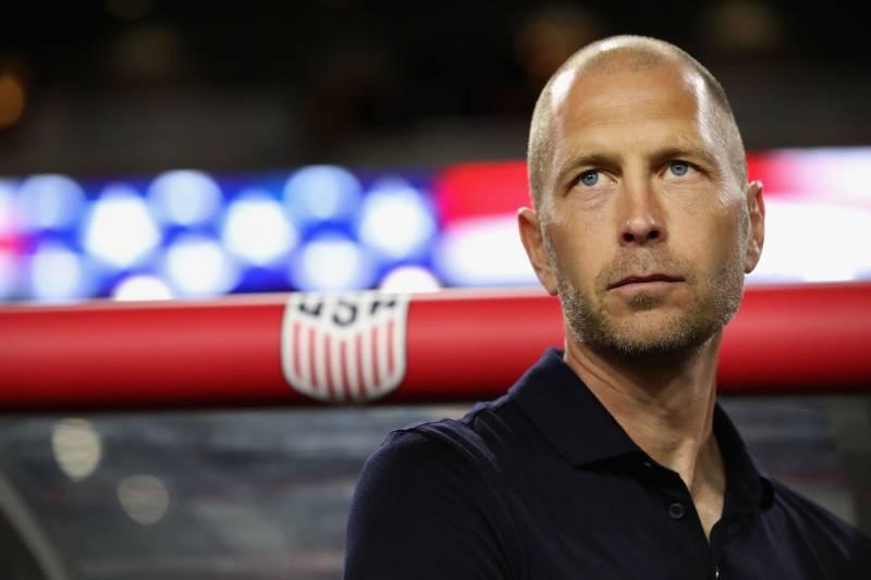 Glendale Arizona January 27 Head Coach Gregg Berhalter Of United States Stands On