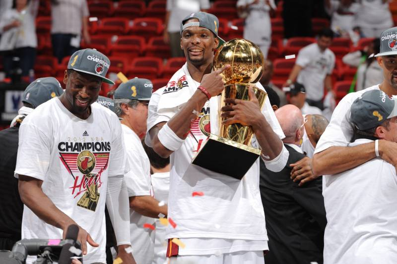 24774014ca6 Chris Bosh to Have No. 1 Jersey Retired by Heat in March 26 Ceremony ...