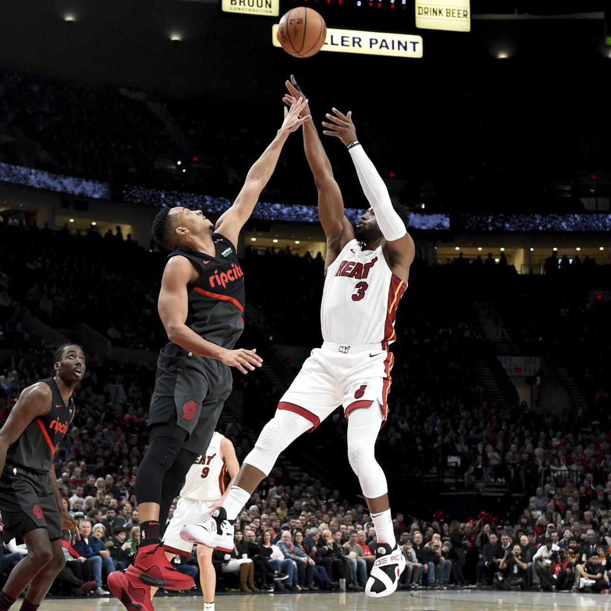 Portland Blazers Last Game: Dwyane Wade Leads Heat To Win Vs. Damian Lillard, Trail