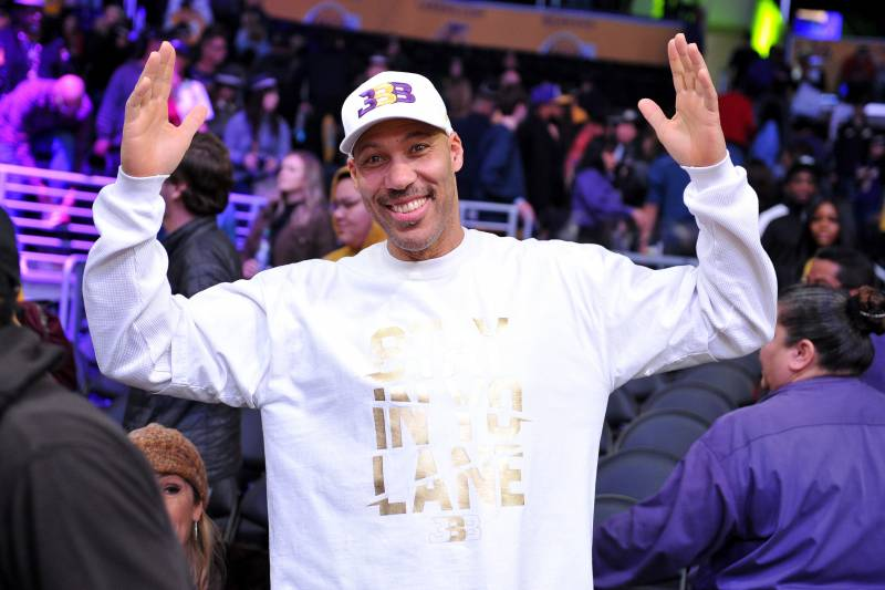 LOS ANGELES, CALIFORNIA - DECEMBER 30: LaVar Ball attends a basketball game between the Los Angeles Lakers and the Sacramento Kings at Staples Center on December 30, 2018 in Los Angeles, California. (Photo by Allen Berezovsky/Getty Images)