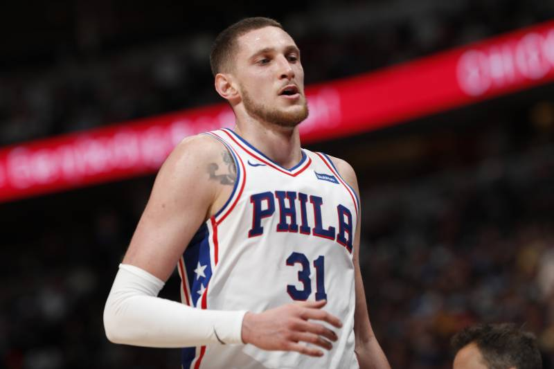 948ff88d26b99 Philadelphia 76ers forward Mike Muscala (31) in the second half of an NBA  basketball
