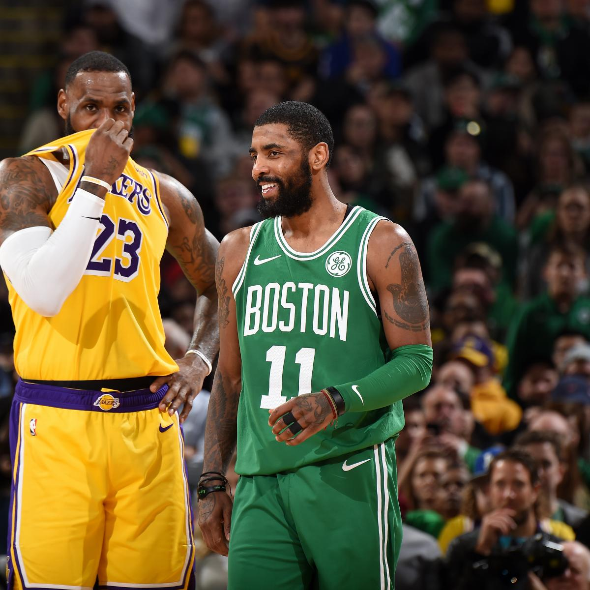 8cee833d544 LeBron James, Lakers Beat Kyrie Irving, Celtics After Anthony Davis Trade  Rumors