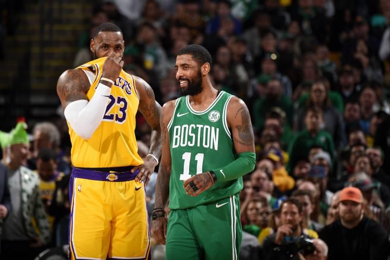 huge selection of 324ee ec781 LeBron James, Lakers Beat Kyrie Irving, Celtics After ...