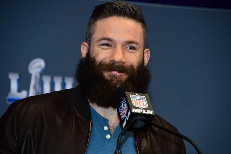 Julian Edelman Has Beard Shaved After Super Bowl Win On