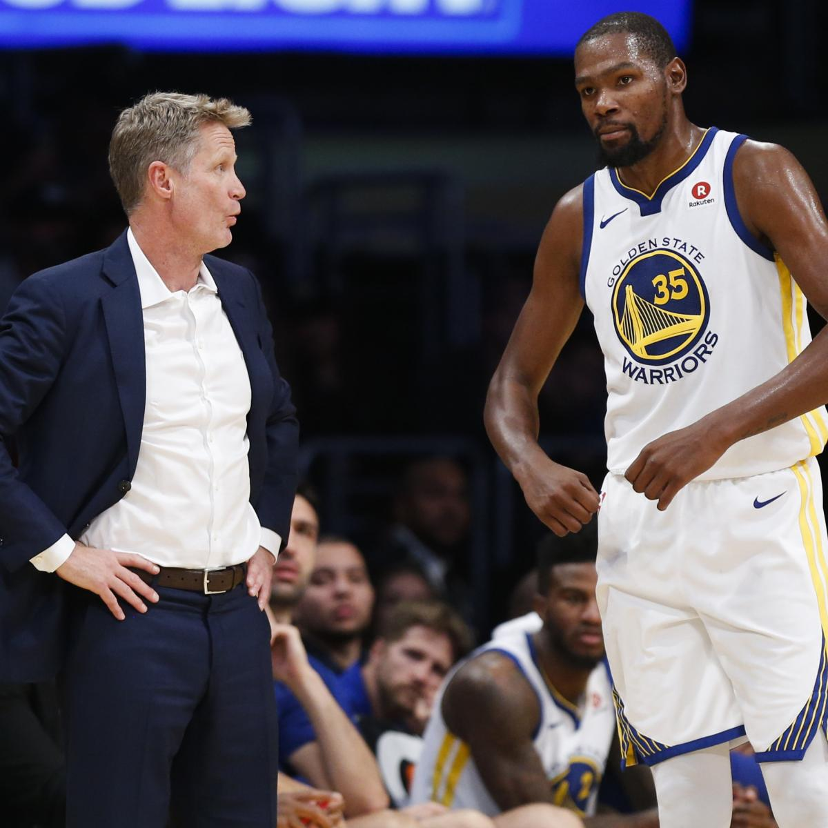 Warriors Come Out To Play Bleacher Report: Steve Kerr On Kevin Durant Lashing Out At Media: We're
