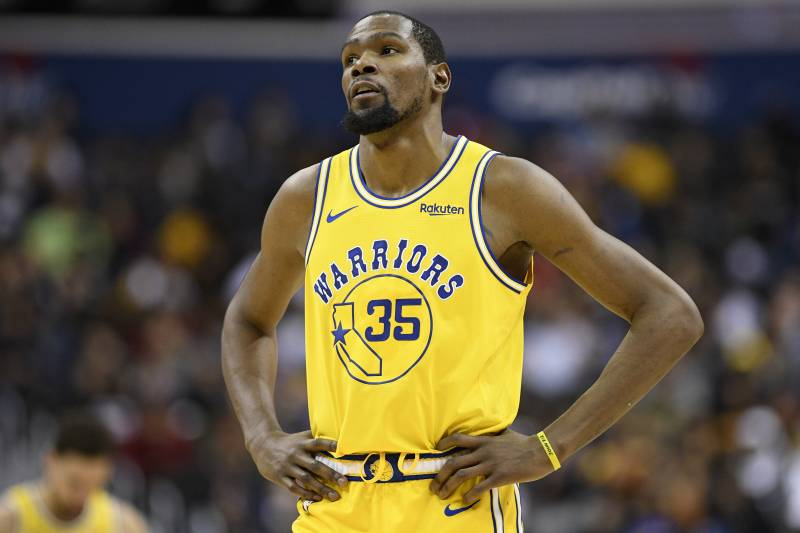 c729f1dbe247 Golden State Warriors forward Kevin Durant (35) stands on the court during  the second