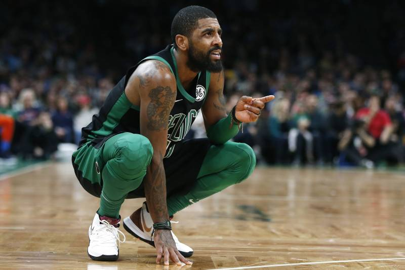 69bcb203aeef Boston Celtics  Kyrie Irving during the second half of an NBA basketball  game against the
