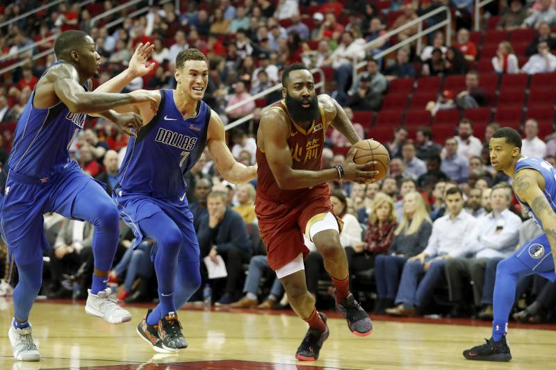 92967bba863d James Harden s 30-Point Streak Continues as Rockets Beat Luka Doncic ...