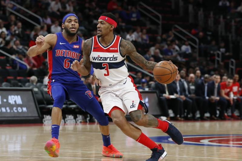 1df43cf0942e Washington Wizards guard Bradley Beal (3) drives on Detroit Pistons guard  Bruce Brown (