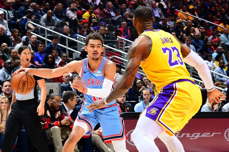 29c5668d73b Trae Young Overcomes LeBron James  Brilliance as Hawks Shock Lakers ...