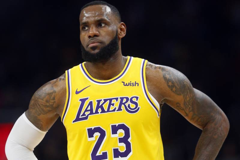 7d364f65a554 Los Angeles Lakers forward LeBron James is shown during the second half of  an NBA basketball