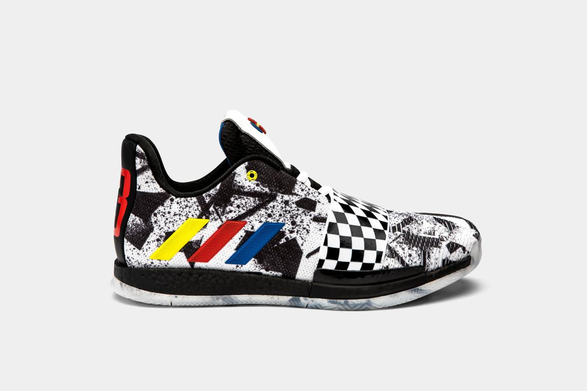 sports shoes 699af 67ea2 Watch James Harden Unveil NASCAR-Themed Kicks for 2019 NBA All-Star Game