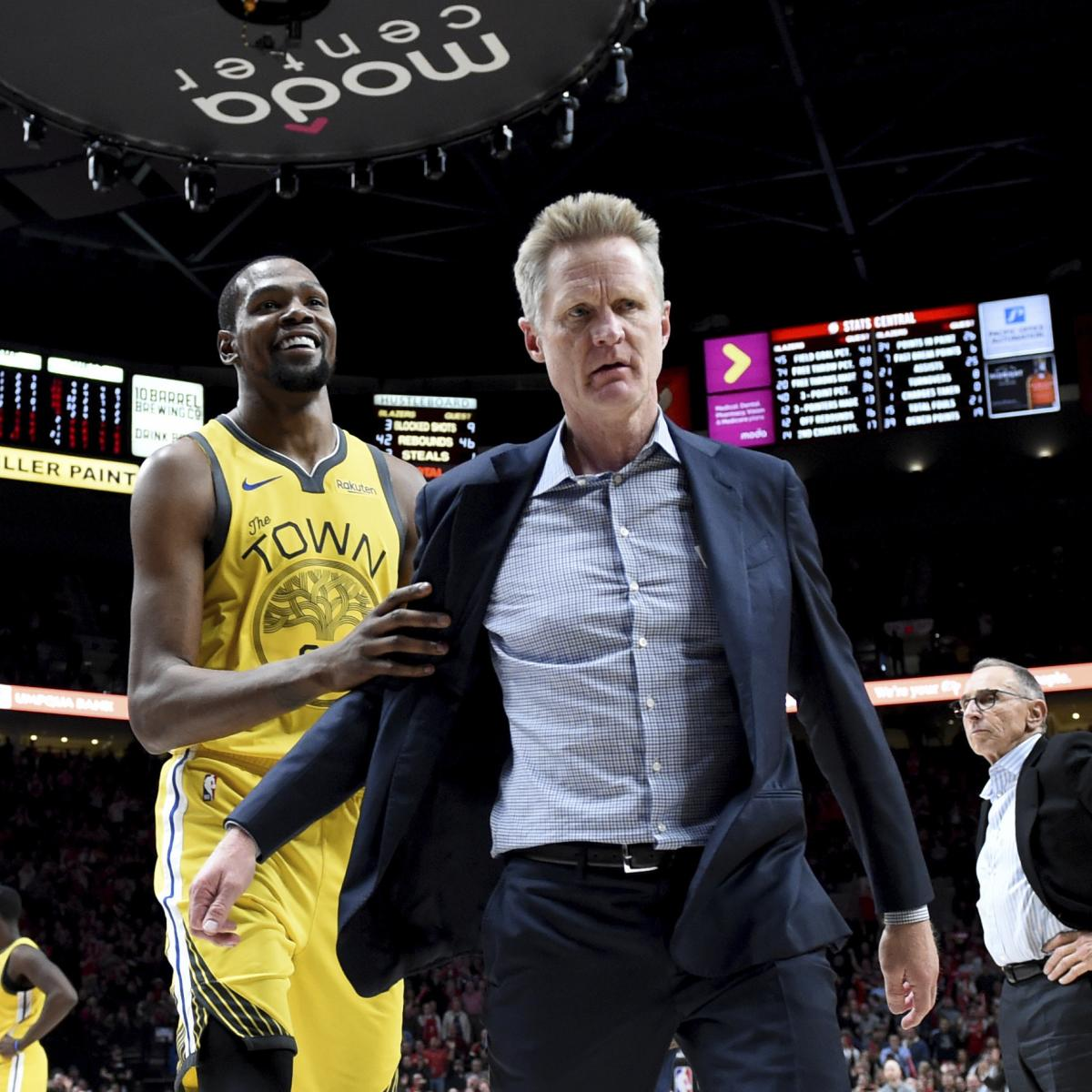 After Ejection, Warriors' Steve Kerr Rips 'Head-Scratching