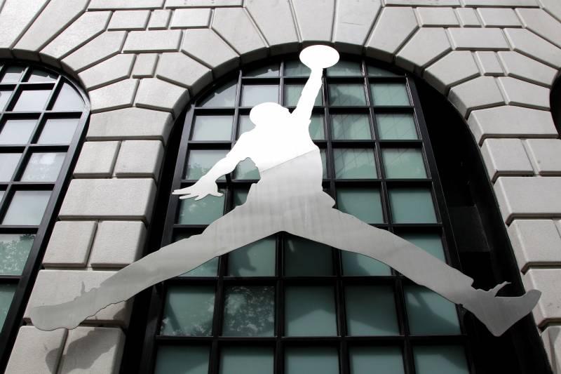 big sale 2138c e4996 FILE - In this June 27, 2011 file photo, the Nike Air Jordan logo