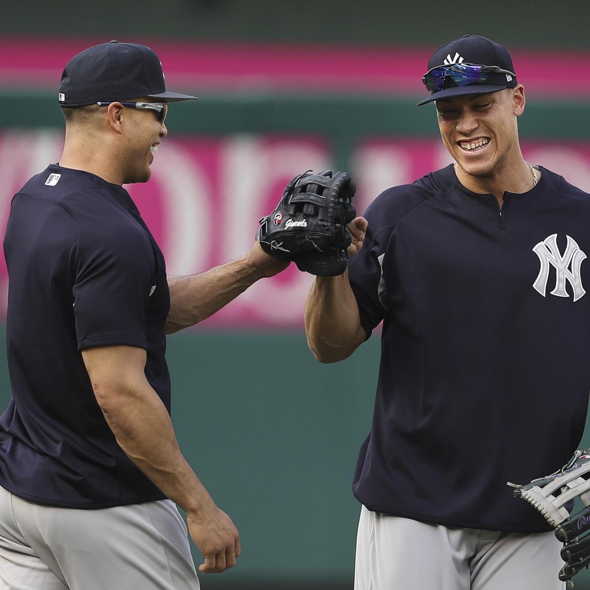 MLB Home Run Leader Odds: Giancarlo Stanton, Aaron Judge