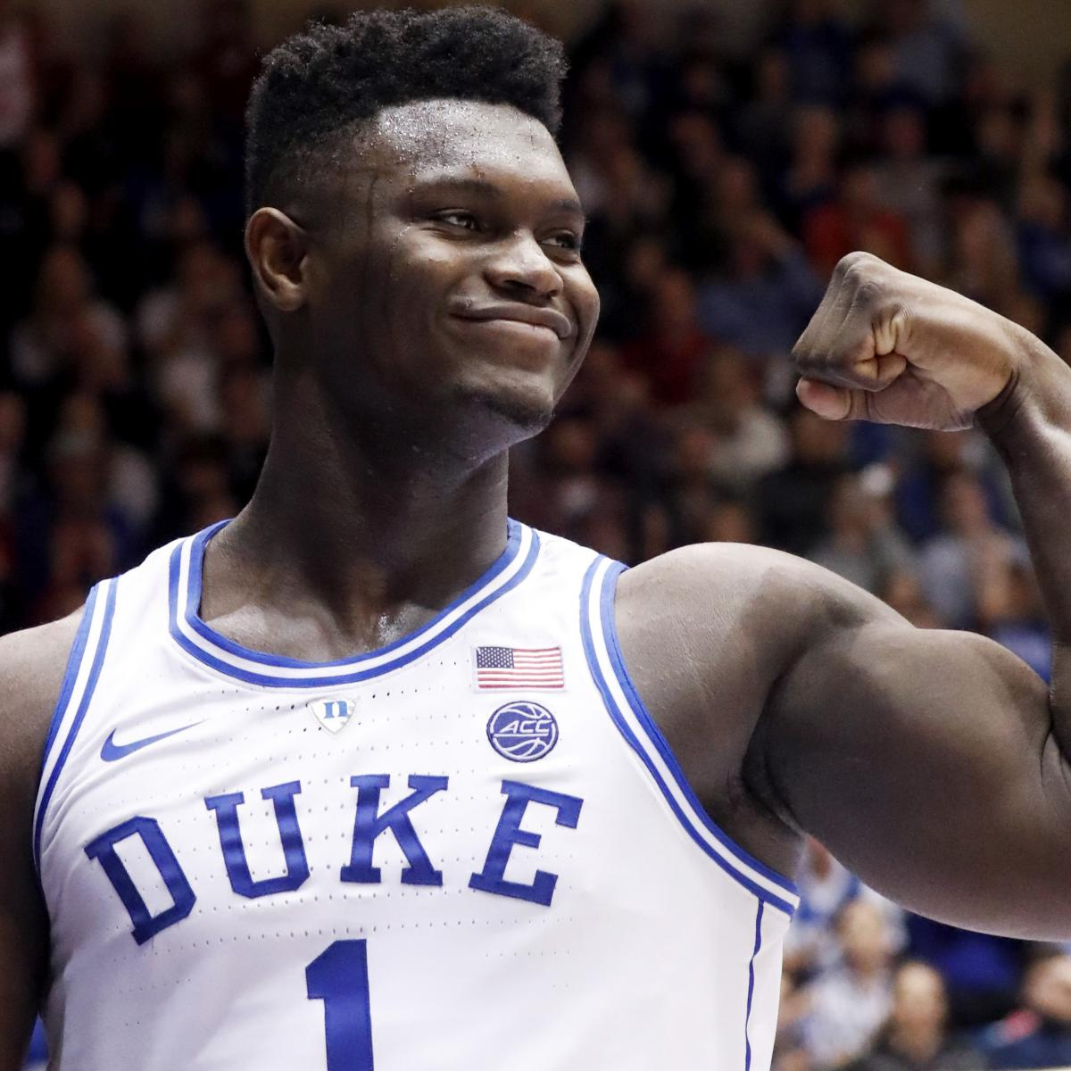 Duke's Zion Williamson Says He Gained 100 Pounds in 2 Years