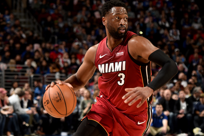 Watch Allen Iverson Pay Tribute to Dwyane Wade During Heat vs. 76ers