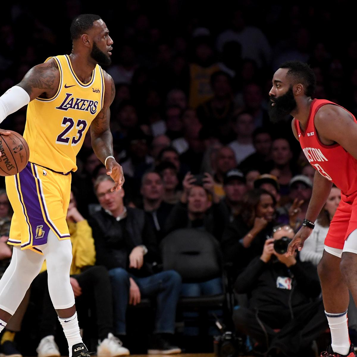 45c98159573 LeBron James Leads Lakers to Comeback Win vs. Rockets Despite James  Harden s 30