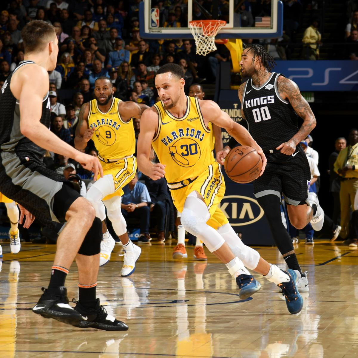 Kevin Durant, Stephen Curry Power Warriors Past Marvin Bagley III, Kings | Bleacher Report ...
