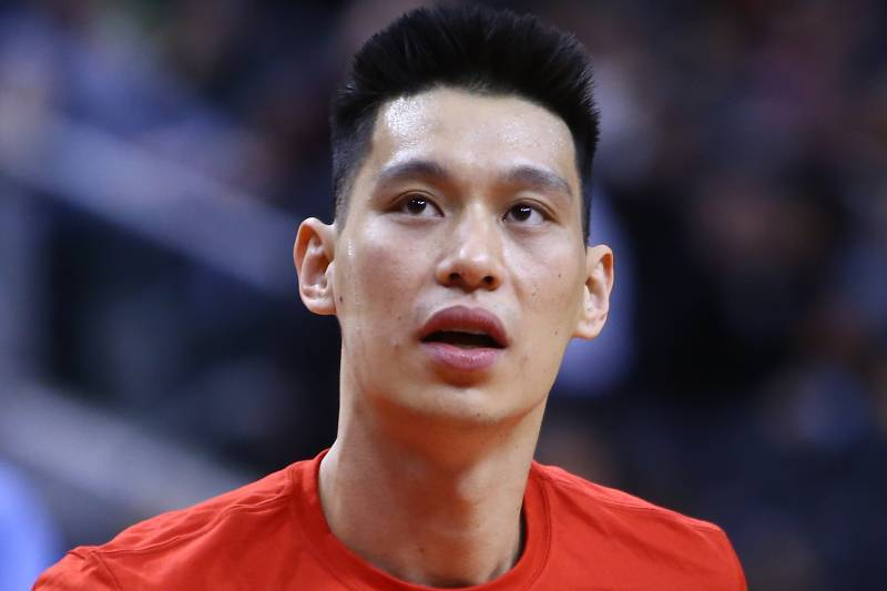 TORONTO, ON - FEBRUARY 13:  New signing Jeremy Lin #17 of the Toronto Raptors looks on prior to an NBA game against the Washington Wizards at Scotiabank Arena on February 13, 2019 in Toronto, Canada.  NOTE TO USER: User expressly acknowledges and agrees that, by downloading and or using this photograph, User is consenting to the terms and conditions of the Getty Images License Agreement.  (Photo by Vaughn Ridley/Getty Images)
