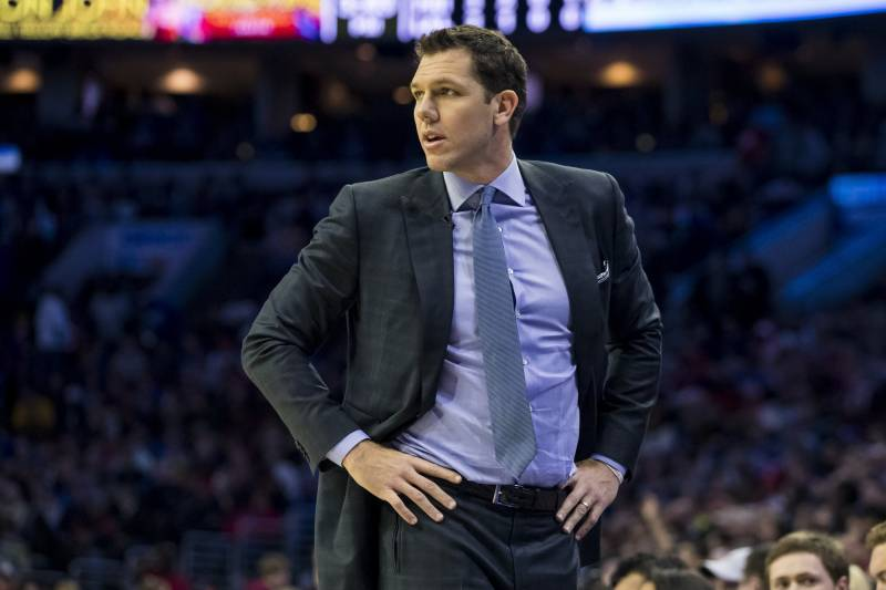 a57fc4b6258 Lakers Bus Didn't Forget Luke Walton After Pelicans Loss Despite Previous  Report