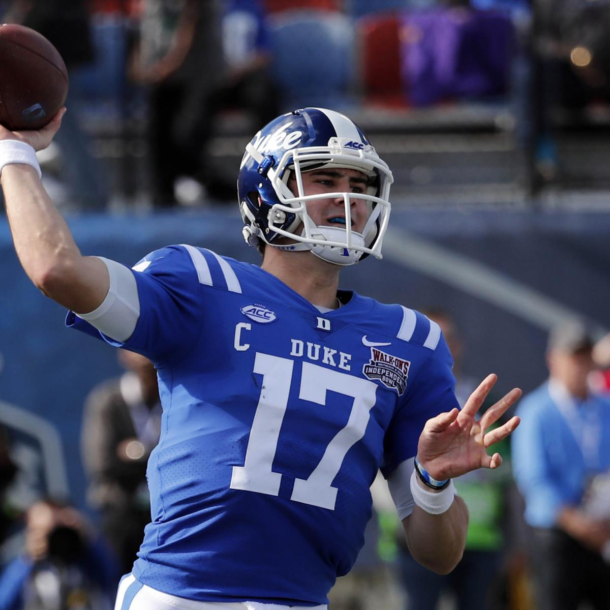 The second quarterback is officially off the board at the 2019 NFL draft. The New York Giants selected Duke's Daniel Jones with the No. 6 pick Thursday in an effort to solidify the quarterback position for years to come...