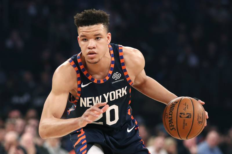 28638d54db8 New York Knicks forward Kevin Knox (20) during the first half of an NBA