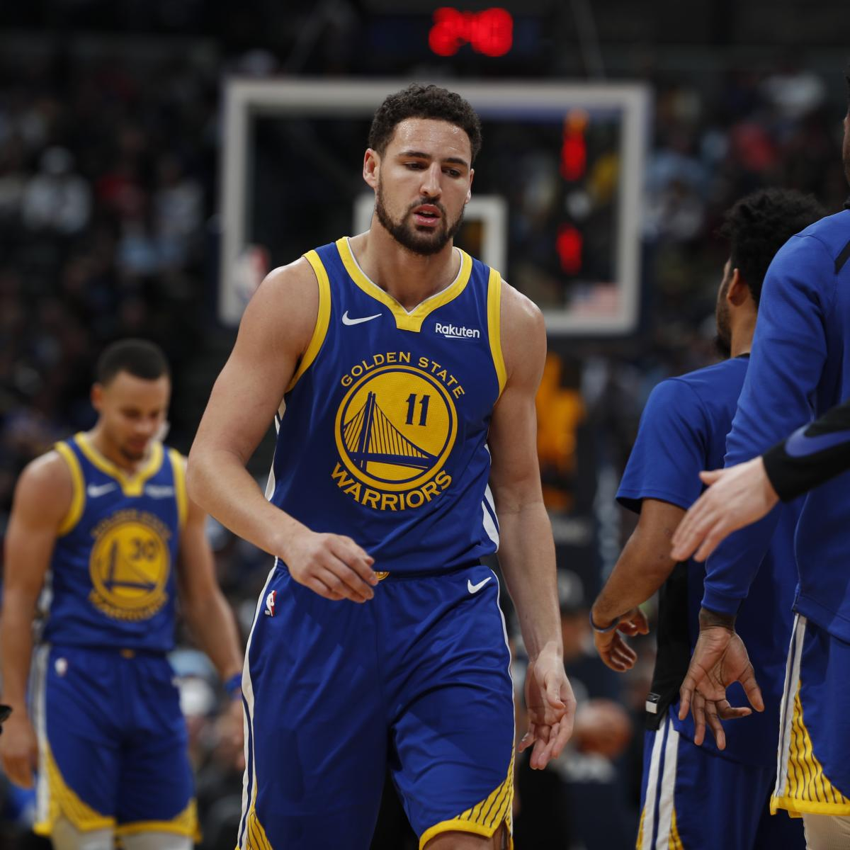 Warriors Come Out To Play Bleacher Report: Warriors News: Klay Thompson Out Vs. Celtics With Knee