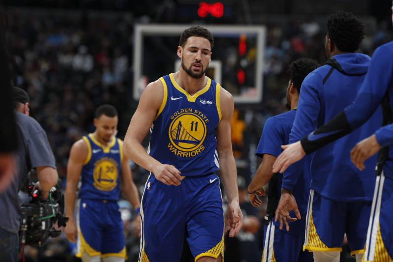 4f7f9ca279b7 Golden State Warriors guard Klay Thompson (11) in the second half of an NBA