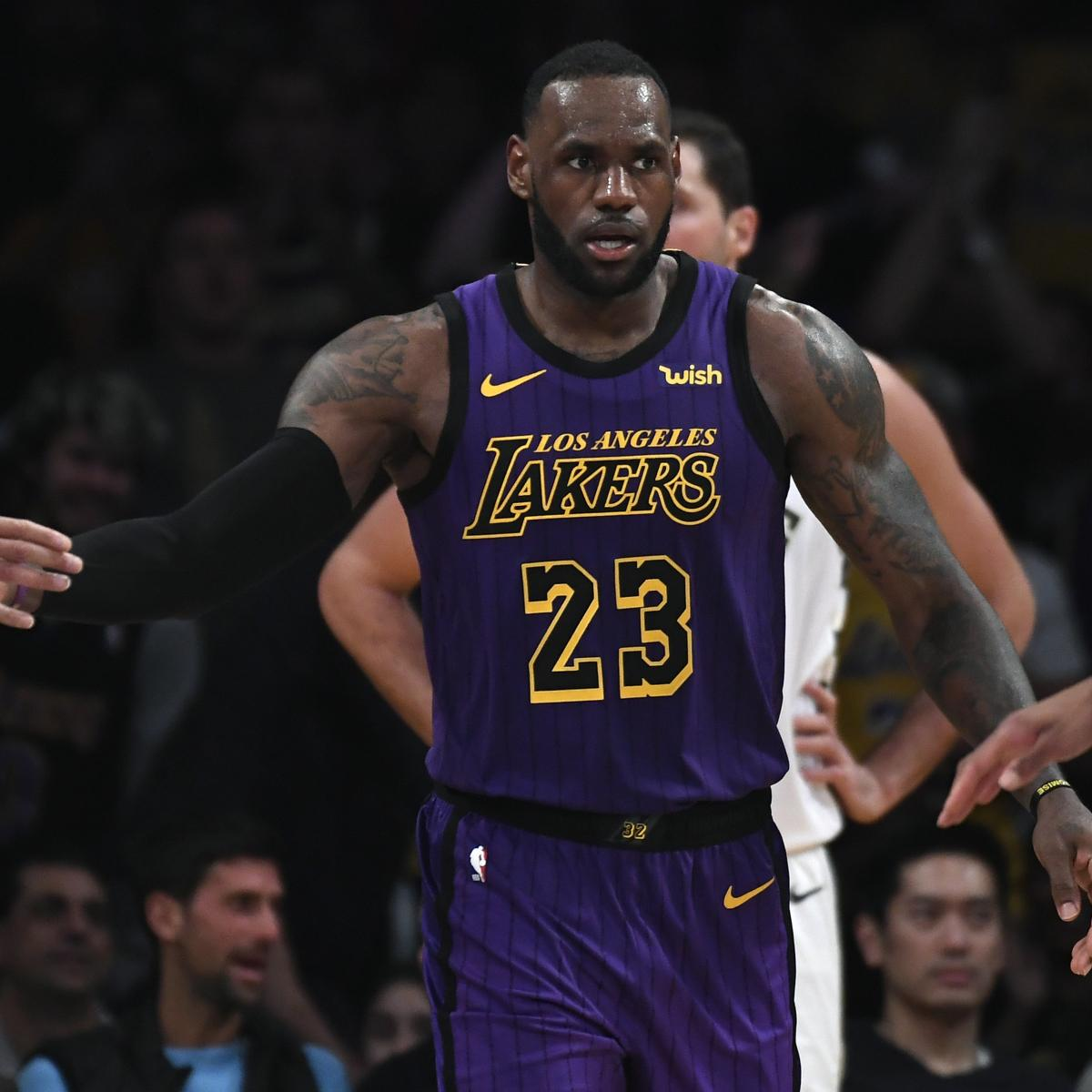 Although the Los Angeles Lakers trailed the Phoenix Suns 66-59 at halftime, LeBron James had something to celebrate Saturday...
