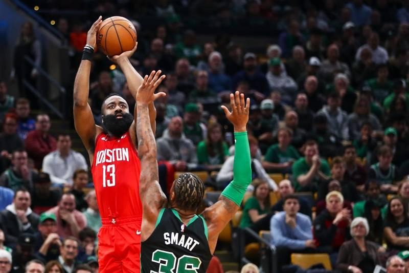 80f6ede5e3d6 James Harden s 42 Points Lead Rockets Past Kyrie Irving