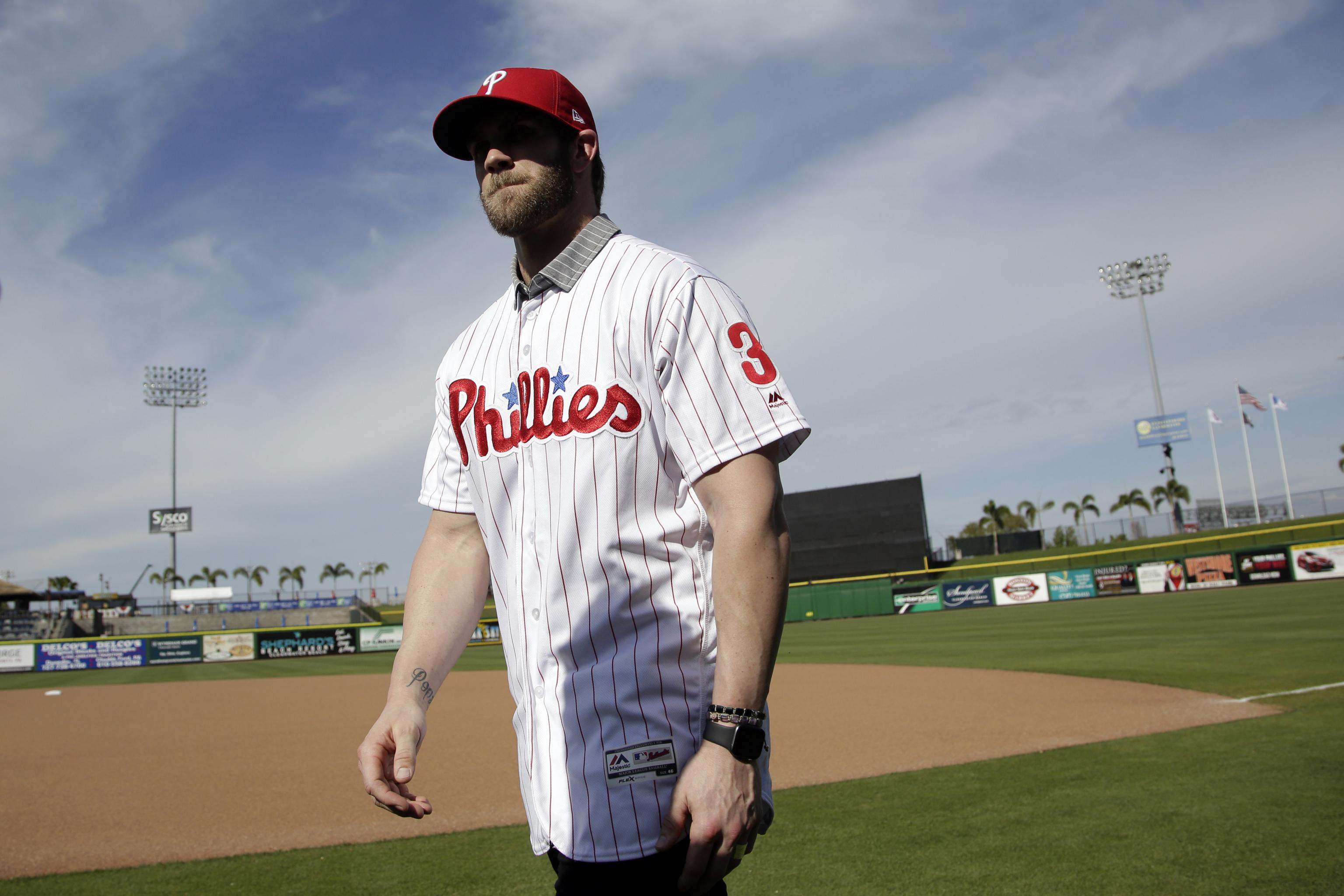 cheaper c11a8 34609 Bryce Harper's Phillies Jersey Sets Sales Record Within 24 ...