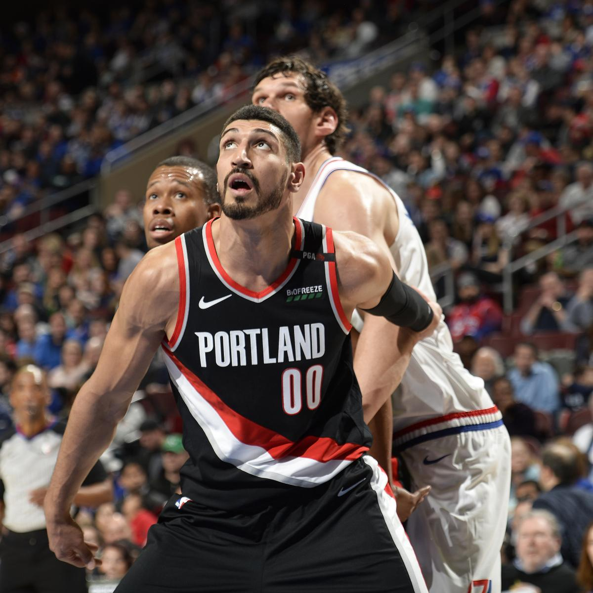 Blazers Injury Report: Enes Kanter Uncertain For Blazers' Round 2 Series With