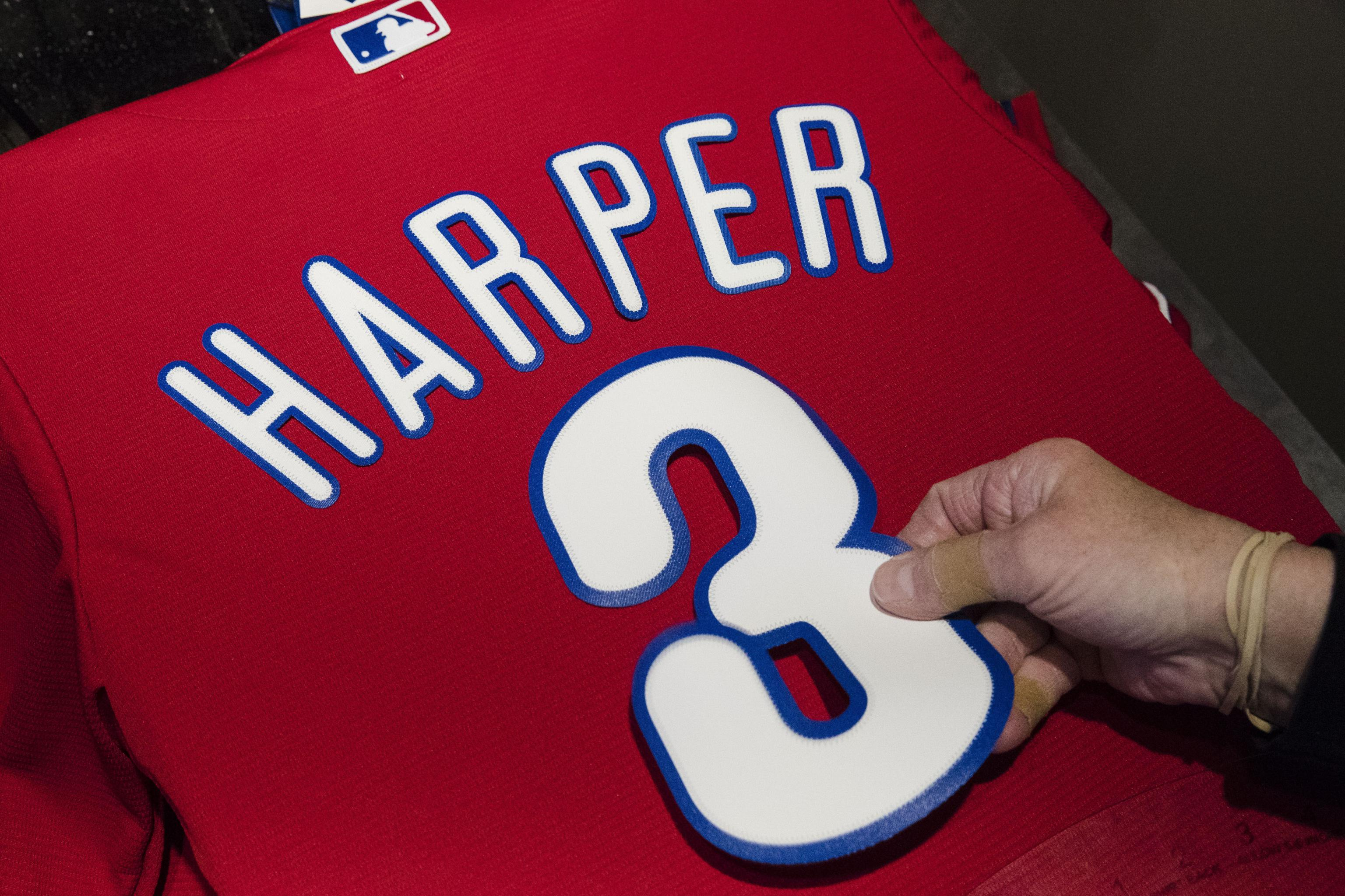 finest selection 0ce78 91755 Bryce Harper's Phillies Jersey Breaks 48-Hour Sales Record ...