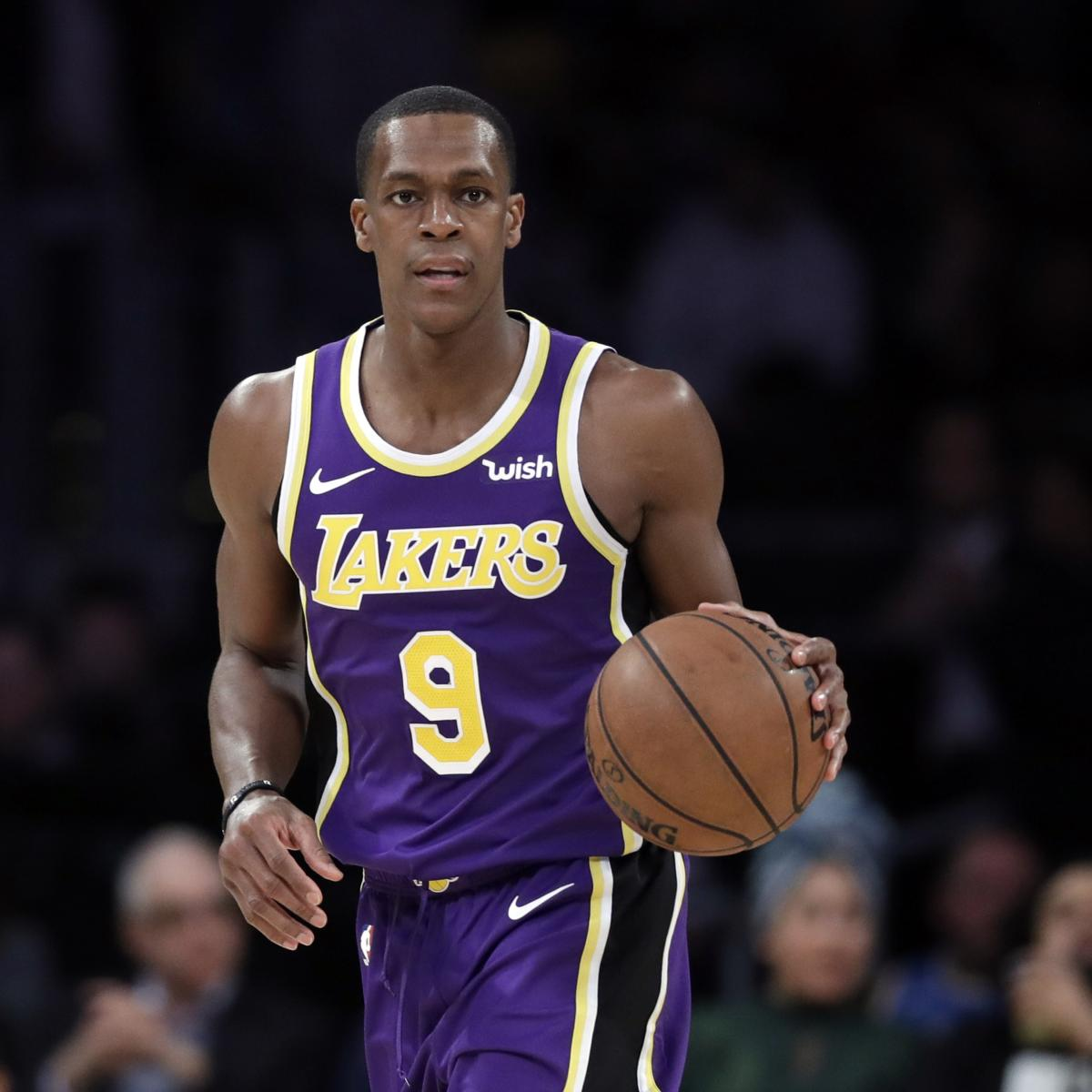 Watch Rajon Rondo Sit Courtside off Lakers Bench After ...