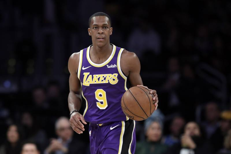 47d67a1003b Los Angeles Lakers  Rajon Rondo during an NBA basketball game against the  New Orleans Pelicans