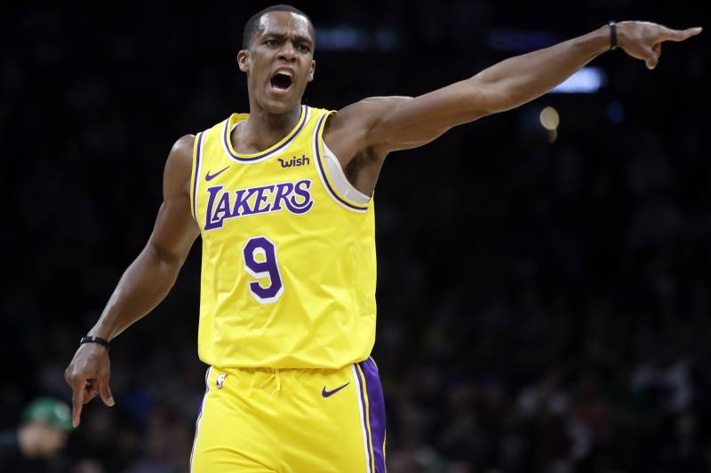 newest c8a0a b0fb1 Report: Rajon Rondo Won't Be Fined for Not Sitting on Lakers ...