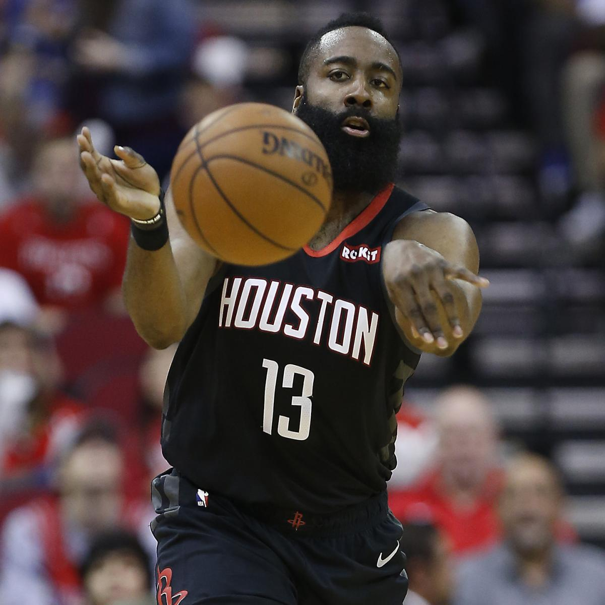 964549b6d25 James Harden Drops 31 as Rockets Rout 76ers Without Injured Joel ...